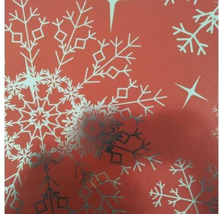 papel de embrulho liso vermelho brilhante neve