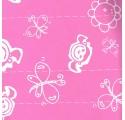 papier d'emballage papillons plaine roses