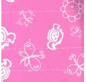 wrapping paper plain pink butterflies