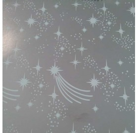papel de embrulho liso prateada estrelas