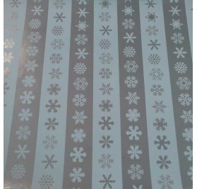 papel de embrulho liso riscas prata neve