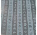 emballage papier lisse rayé neige argent