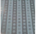 paper wrapping smooth striped silver snow