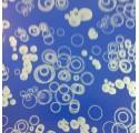 plaine de boules argent bleu foncé de papier d'emballage