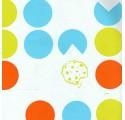 Papel de regalo blanco liso con galletas con varios colores