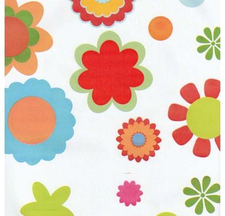 papel de embrulho liso branco varias flores