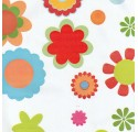 plain white wrapping paper several flowers