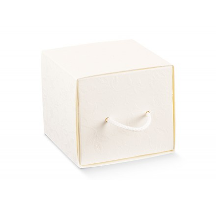 CASSETTO c/cordino harmony bianco 90x90x80