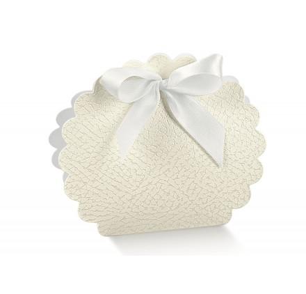 borsa rotonda pelle bianco 58x40x85