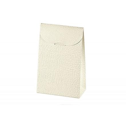 SACCHETTO pelle bianco 90x45x130