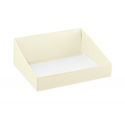 vassoio pelle bianco 310x240x105