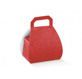 BORSA seta rosso H.80