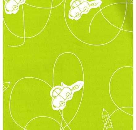 papel de embrulho liso verde claro carros