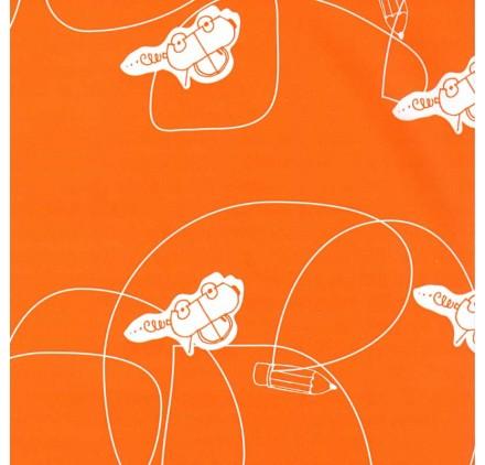 papel de embrulho liso laranja carros