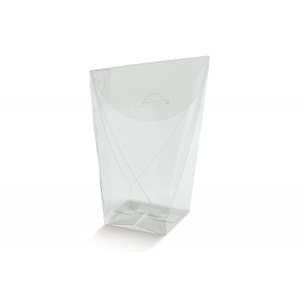SACCHETTO ROMBO transparente 40x40x95