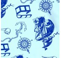 egyszerű csomagolás papír baba kék csónak