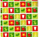 Flache Geschenkpapier Weihnachten