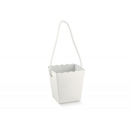 VASO con cordino white 100x100x145
