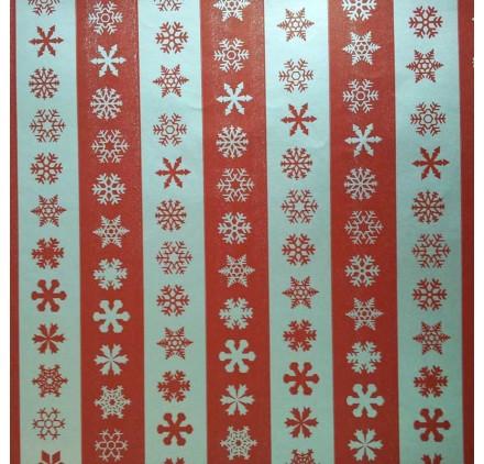 papel de embrulho liso vermelho neve prata