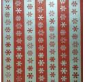 csomagoló papír sima piros-ezüst hó
