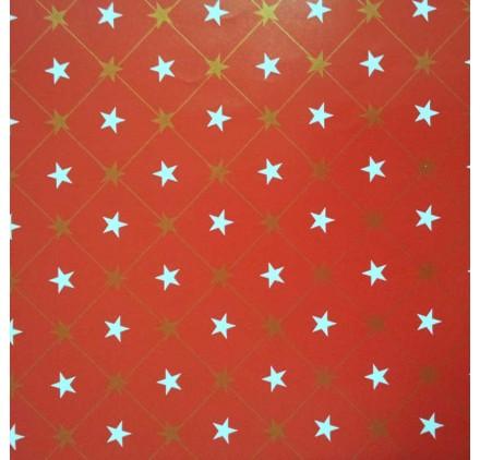papel de embrulho liso vermelho estrelas2