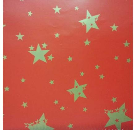 papel de embrulho liso vermelho estrelas3