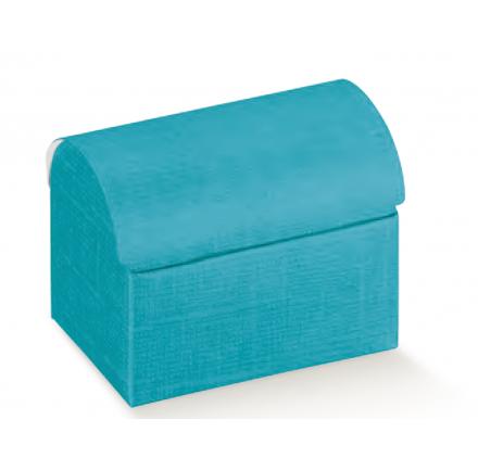 COFANETTO seta bluette 70x45x52