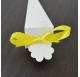 Fita Amarela Cetim tiras 20cm para cones