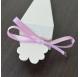 Fita Rosa Cetim tiras 20cm para cones