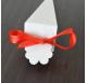 Fita Vermelha Cetim tiras 20cm para cones