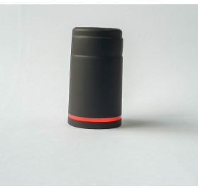 Selo de segurança retratil 29.5 preto com filé vermelho