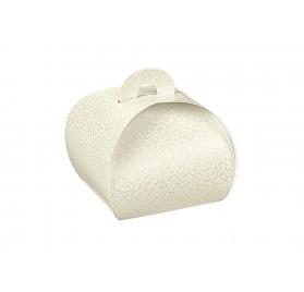 TORTINA pelle bianco 55x55x50