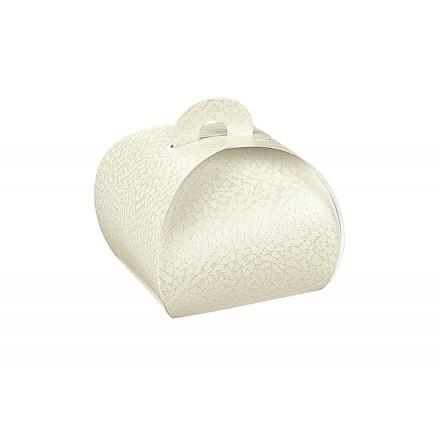 TORTINA pelle bianco 105x105x90