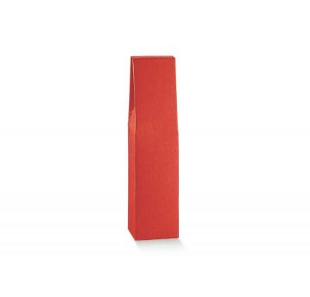 SCAT. 1 BOTTIGLIA seta rosso 90x90x370