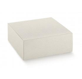 PRATICA pelle bianco 100x100x40