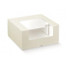 PRONTA c/finestra pelle bianco 210x210x100