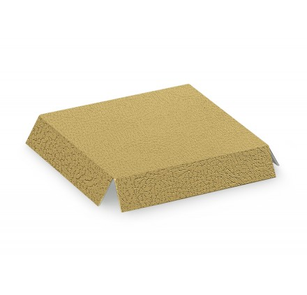 FONDI RIALZATI  fondi pelle oro / bianco 90x90