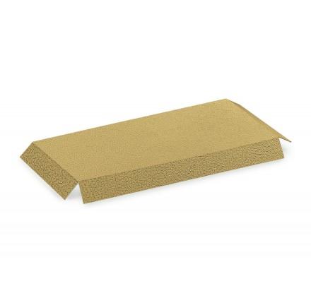FONDI RIALZATI  fondi pelle oro / bianco 180x90