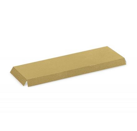 FONDI RIALZATI  fondi pelle oro / bianco 270x90