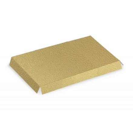 PER BALLOTTIN fondi pelle oro / bianco 140x90
