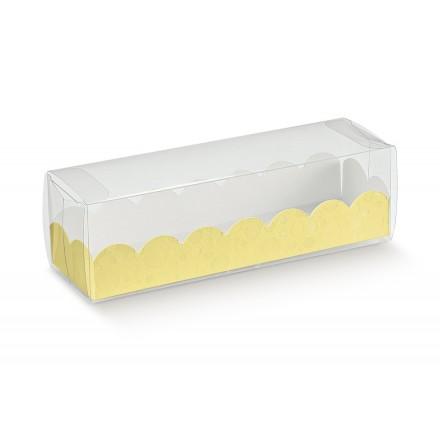 ASTUCCIO  con vaschetta sfere giallo 190x50x50