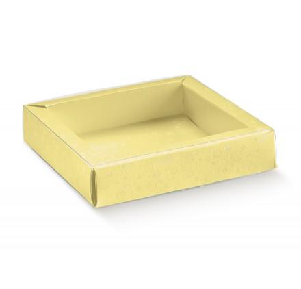QUADRETTO+FASCETTA sfere giallo 120x120x32