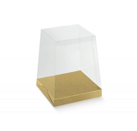 PORTAPAN. PVC+fondo ast. pelle oro 205x205x250