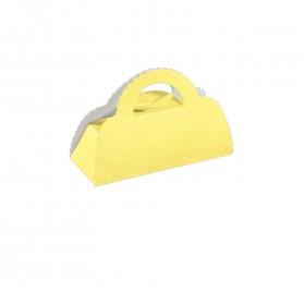 BORSA CLIP seta giallo 100x40x68