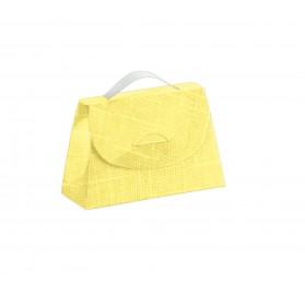 CARTELLA seta giallo 85x30x55