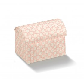 Cofaneto quadri rosa 70x45x52
