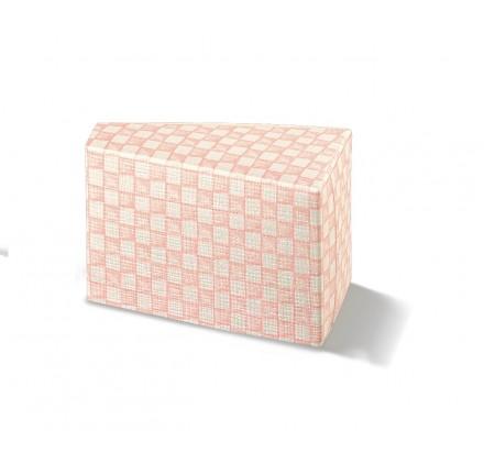 Fetta Torta  quadri rosa 80x45x50