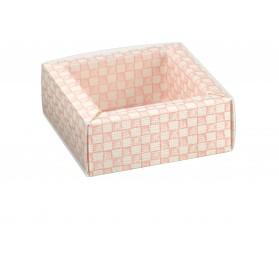 QUADRETTO+FASCETTA quadri rosa 60x60x32