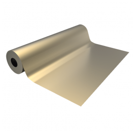 Smooth golden eco wrapping paper