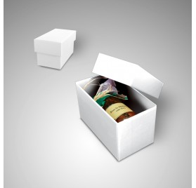 Gourmet box Small white color measures 180x95x105mm